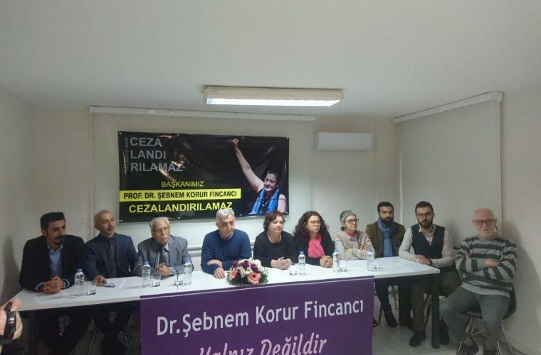 Prof. Dr. Şebnem Korur Fincancı'ya Verilen Ceza ile İlgili Ortak Basın Açıklaması